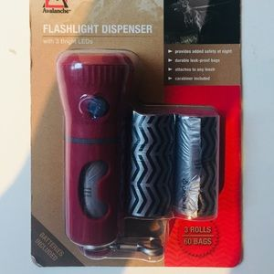 Flashlight with dog bags